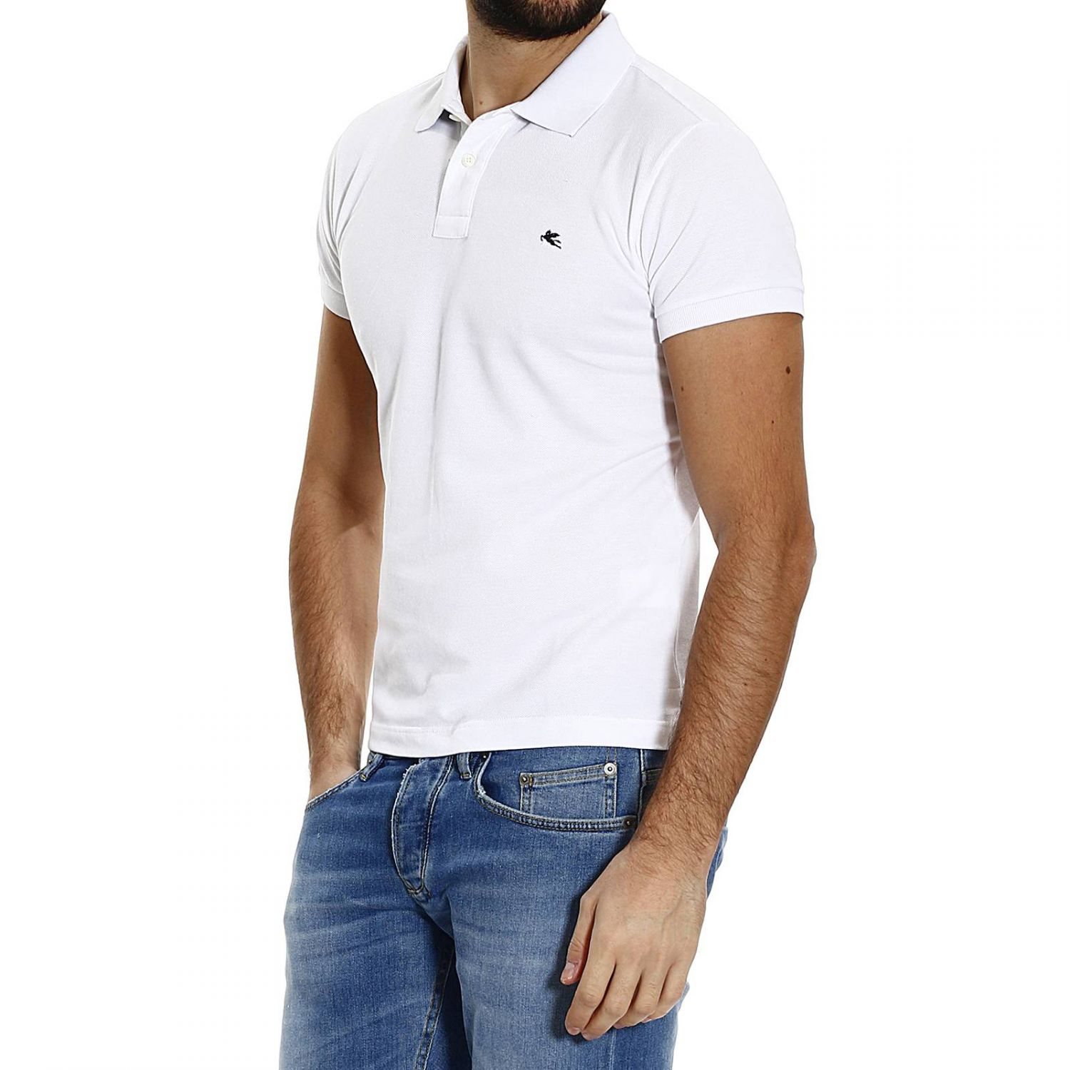 Lyst etro t shirt polo half sleeve nido d 39 ape sotto for Full sleeve polo t shirts