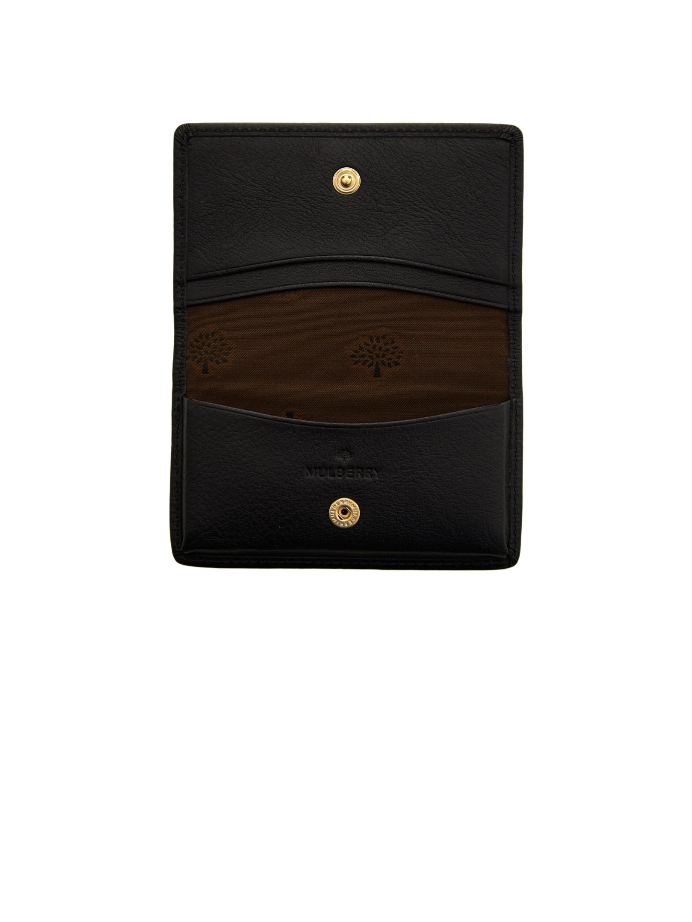 2e28843c5d12 Lyst - Mulberry Grained-leather Card Case in Black for Men