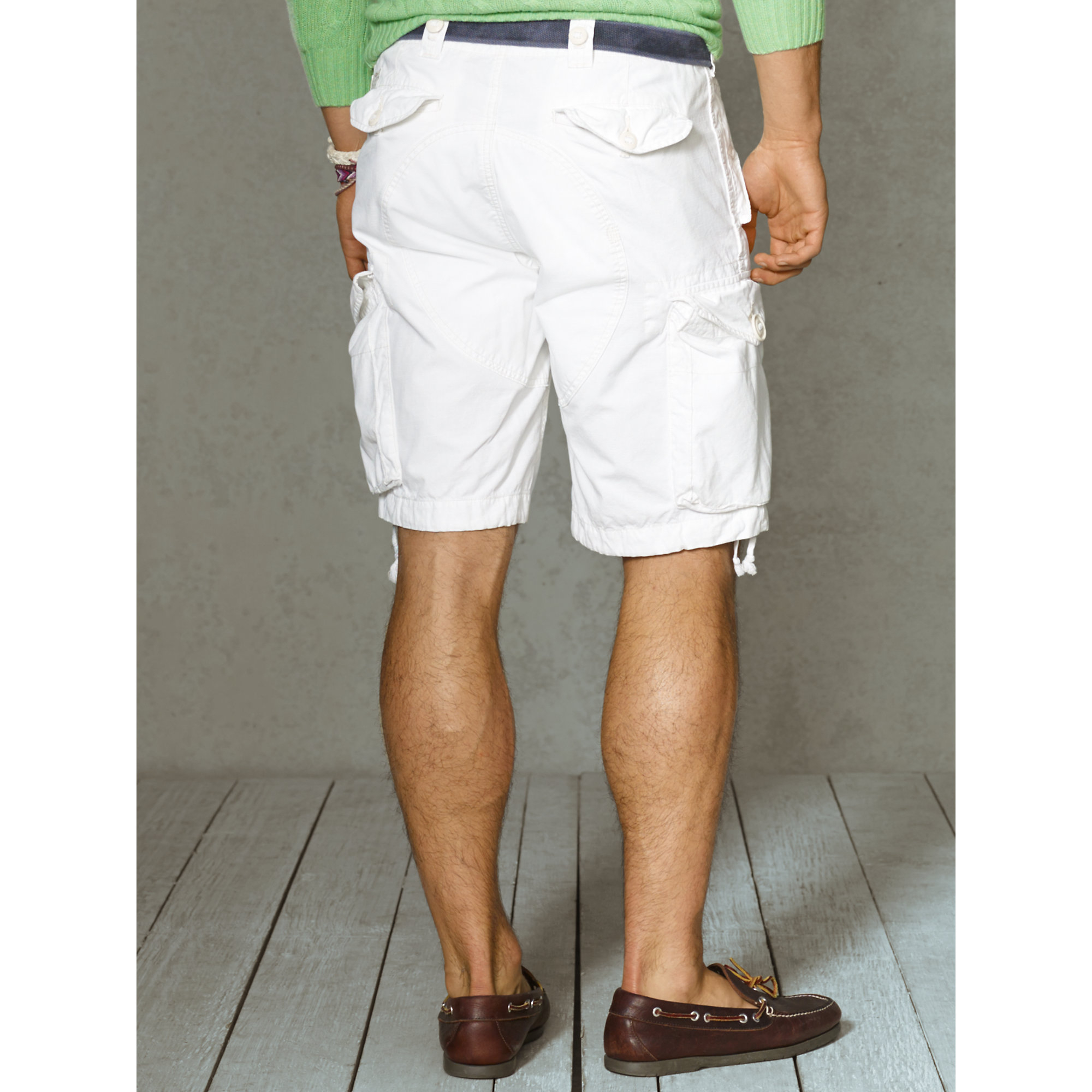 8696c1d88 Polo Ralph Lauren Classic-Fit Cargo Short in White for Men - Lyst