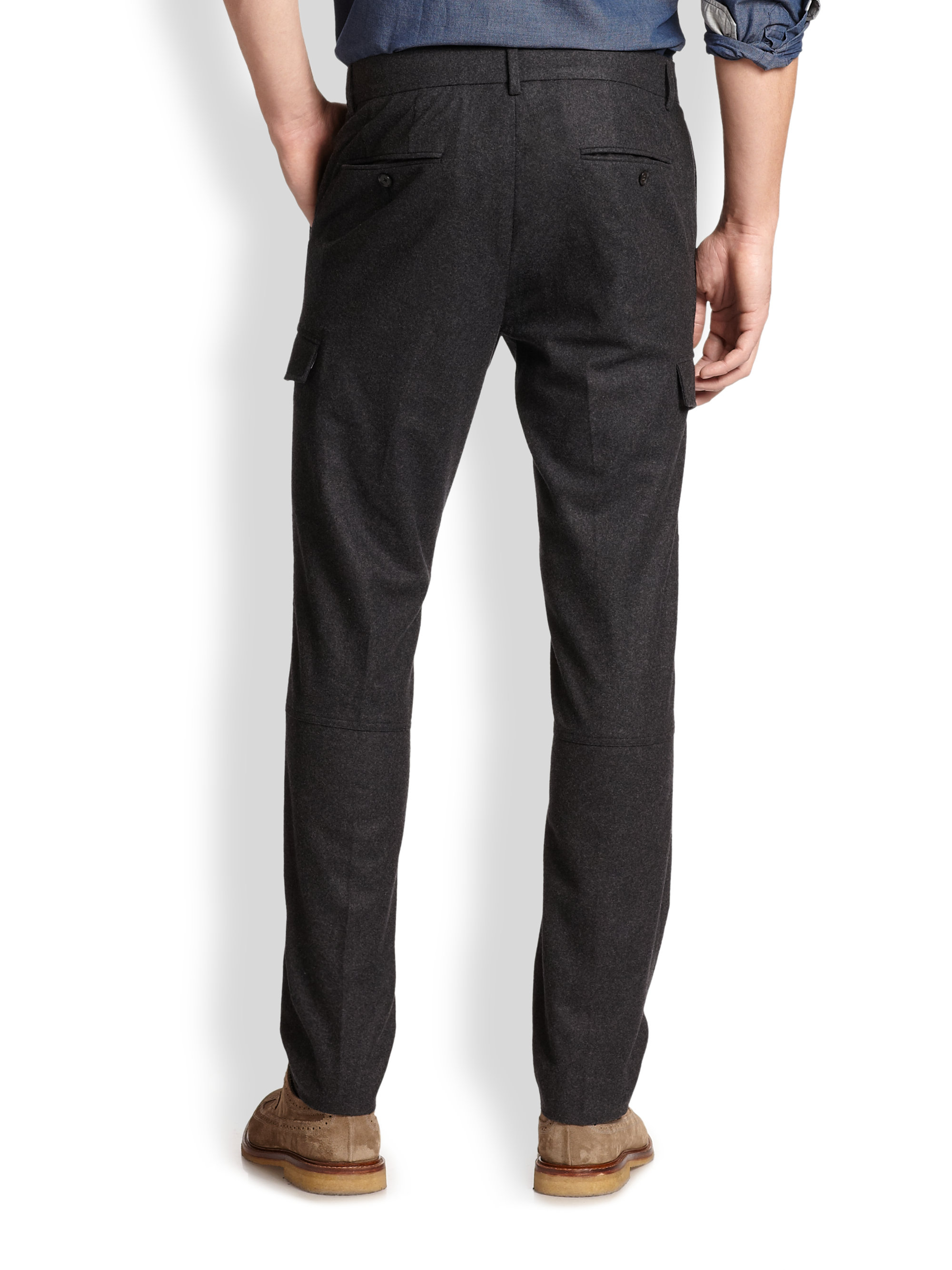 Every guy should have the basics: black dress pants, navy, charcoal, and, of course, khaki. Build a solid rotation of pants from brands like Ballin and Sansabelt and people in the office will surely take notice of your pants game.