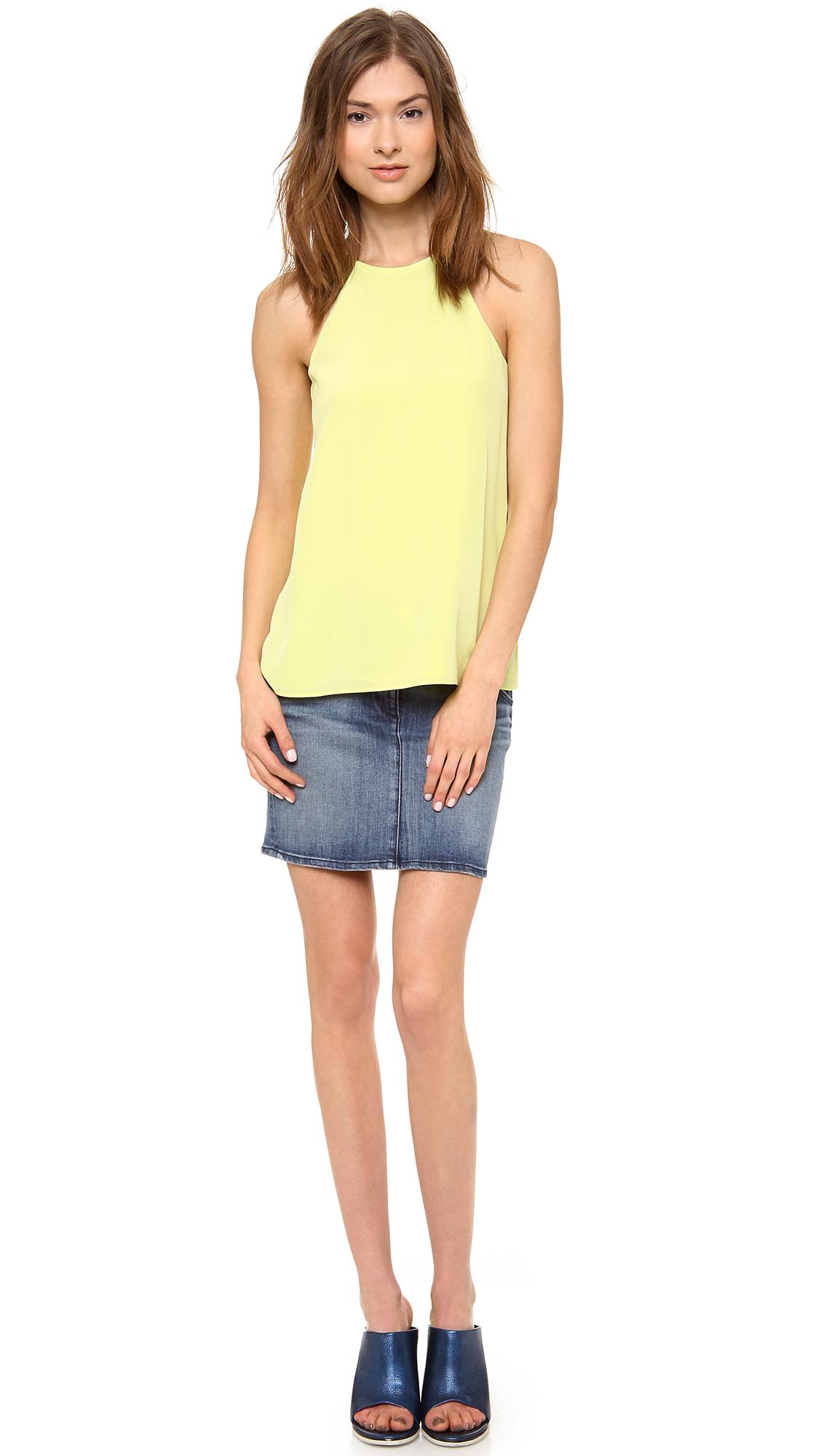 3x1 Denim Miniskirt in Blue   Lyst