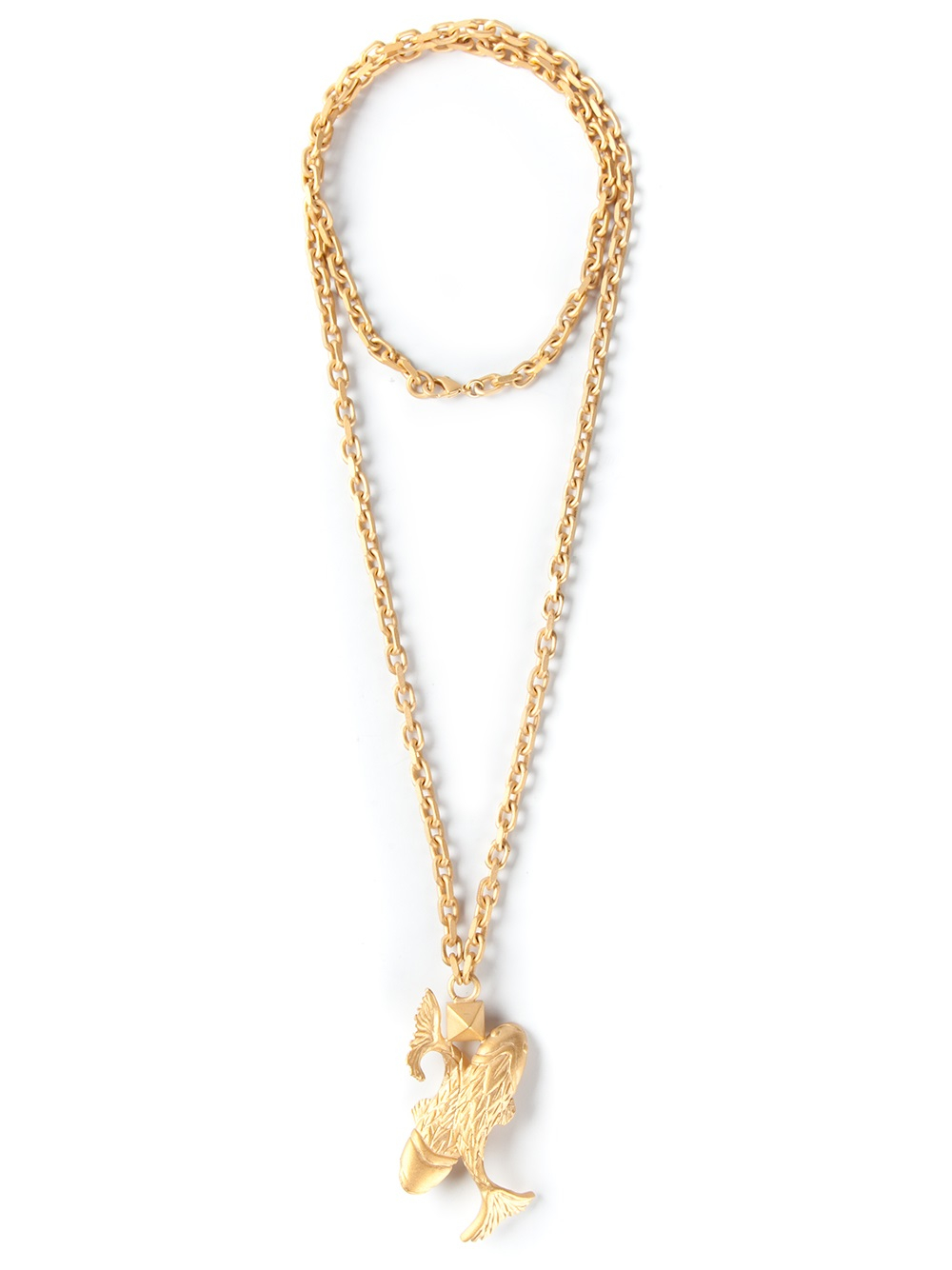 Lyst valentino pisces pendant necklace in metallic gallery mozeypictures Choice Image