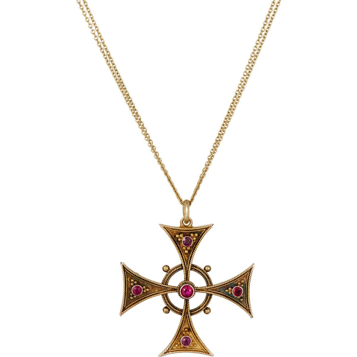 renee lewis celtic cross pendant necklace in metallic lyst. Black Bedroom Furniture Sets. Home Design Ideas