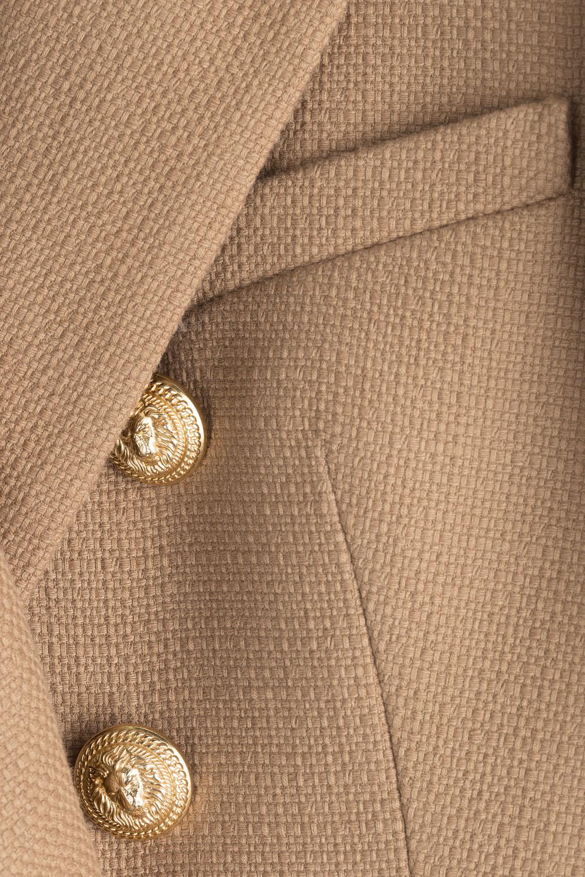 4438befc Balmain Cotton Blazer - White in Brown - Lyst