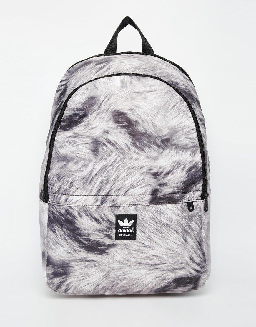 a79dc3c3209 Lyst - adidas Originals Backpack In Fur Print in Black