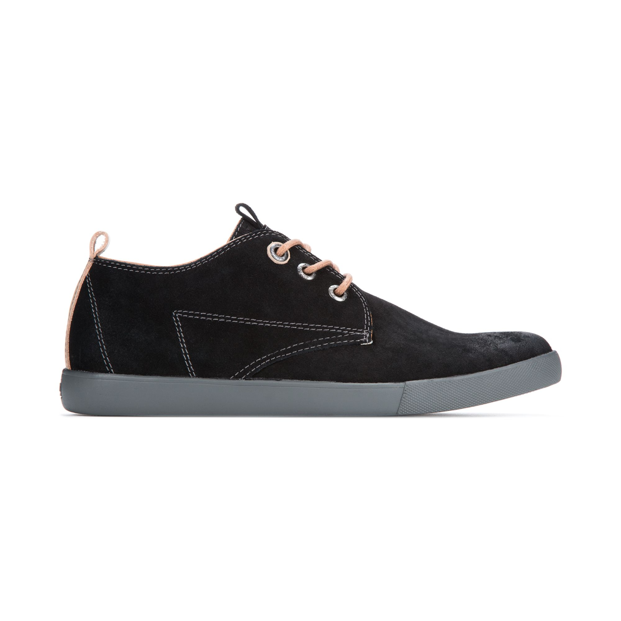 guess jenison casual laceup sneakers in black for lyst