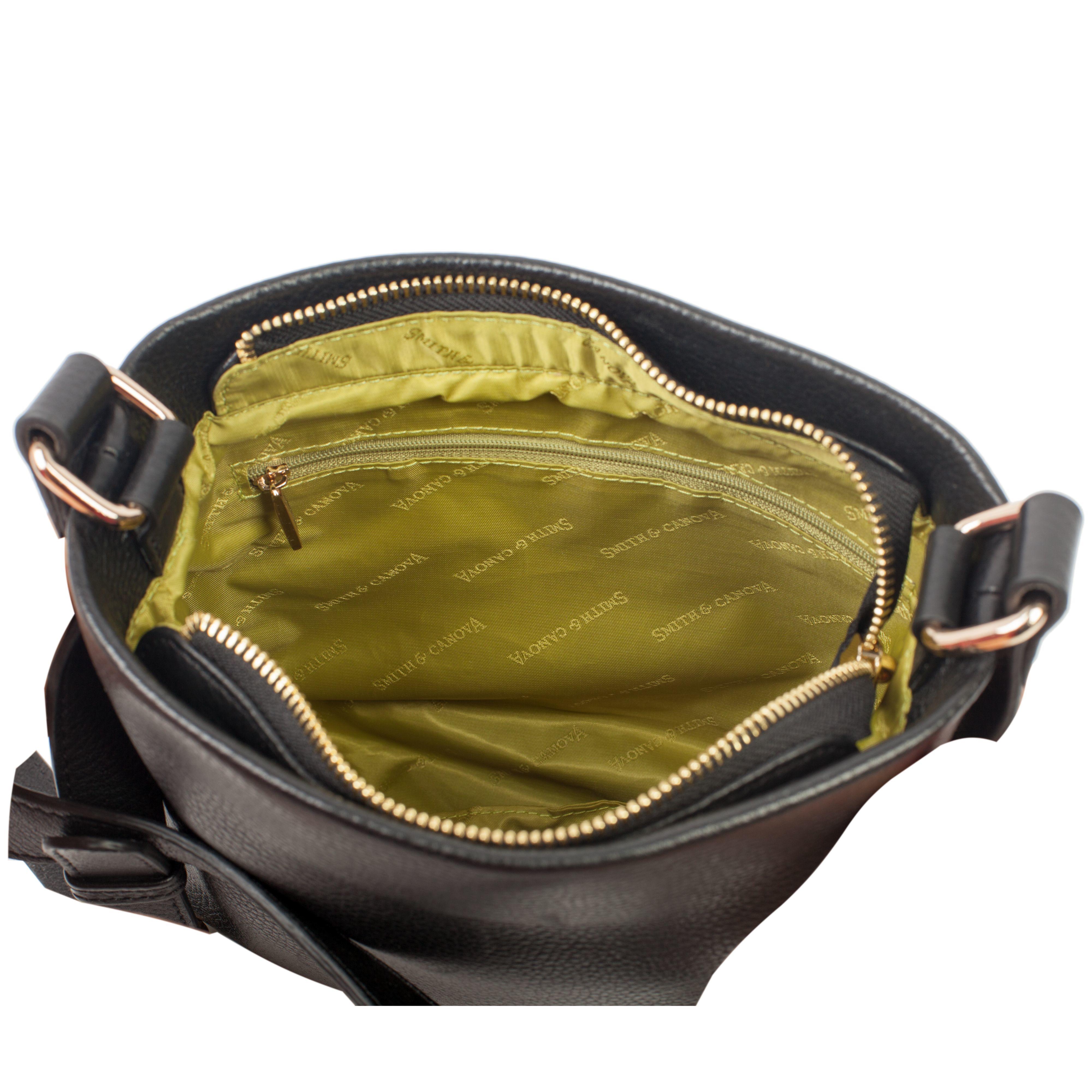 Smith   Canova Zip Top Cross Body Bag in Black - Lyst 1a6749b4b246e