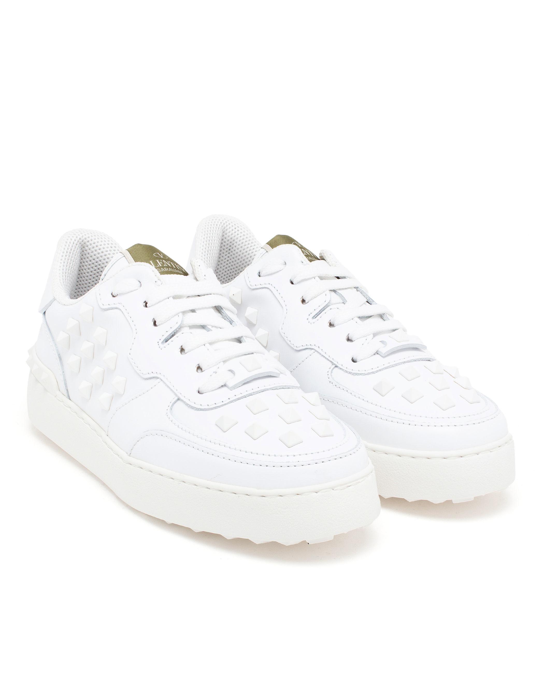 005f8de85ab7 Valentino Rockstud White Shoes