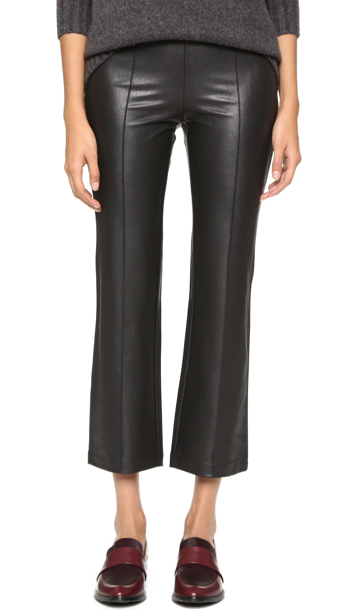 061148f97aaf4e Gallery. Previously sold at: Shopbop · Women's Black Leather Trousers  Women's Faux Leather Trousers