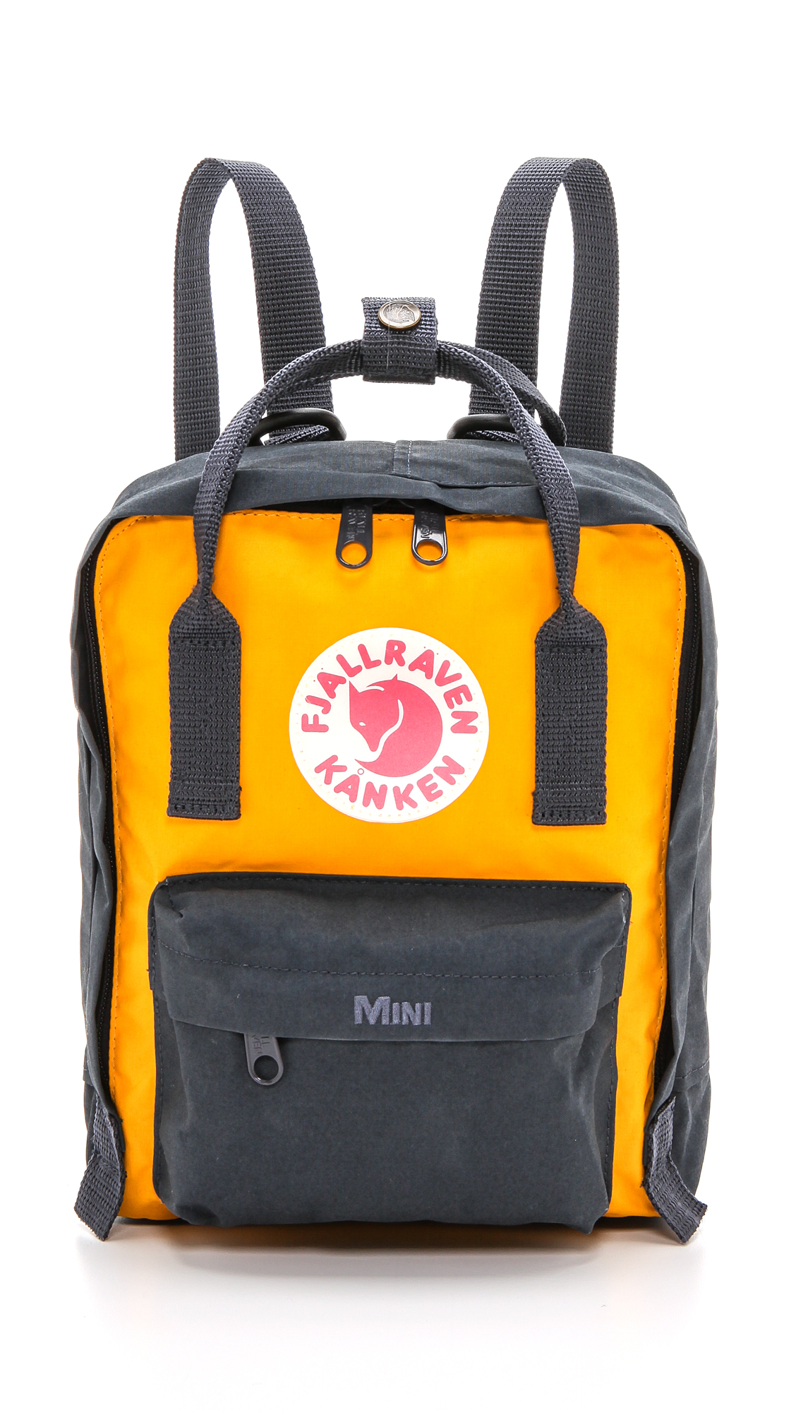 Fjallraven Kanken Mini Backpack Royal Blue Ox Red In