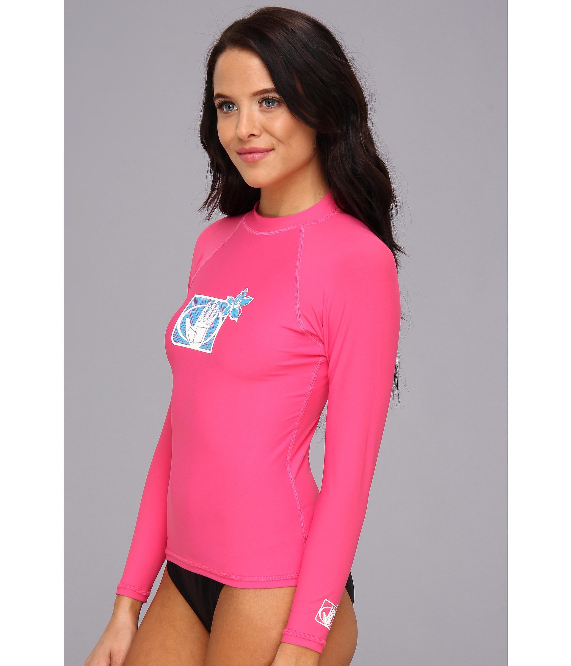 Lyst - Body Glove Basic L a Rashguard in Pink c7e2ddd4f10e