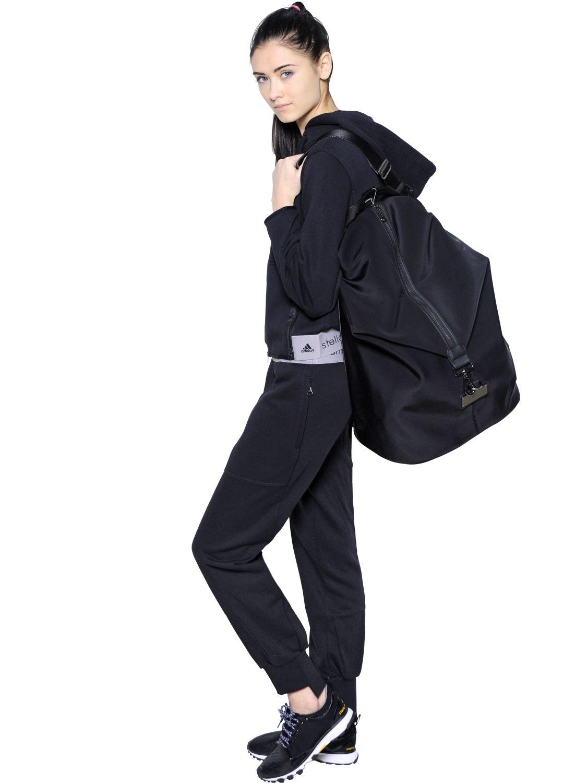 6f14f5ed9fc1 Lyst - adidas By Stella McCartney Oversize Studio Backpack in Black