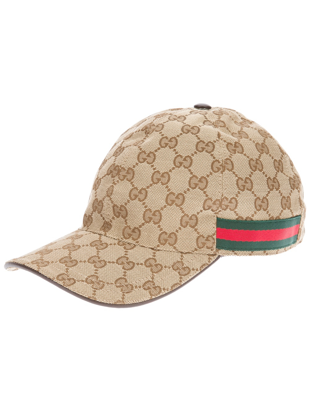 8fd3f1adeb1 Lyst - Gucci Unisex Emblem Print Cap in Natural for Men