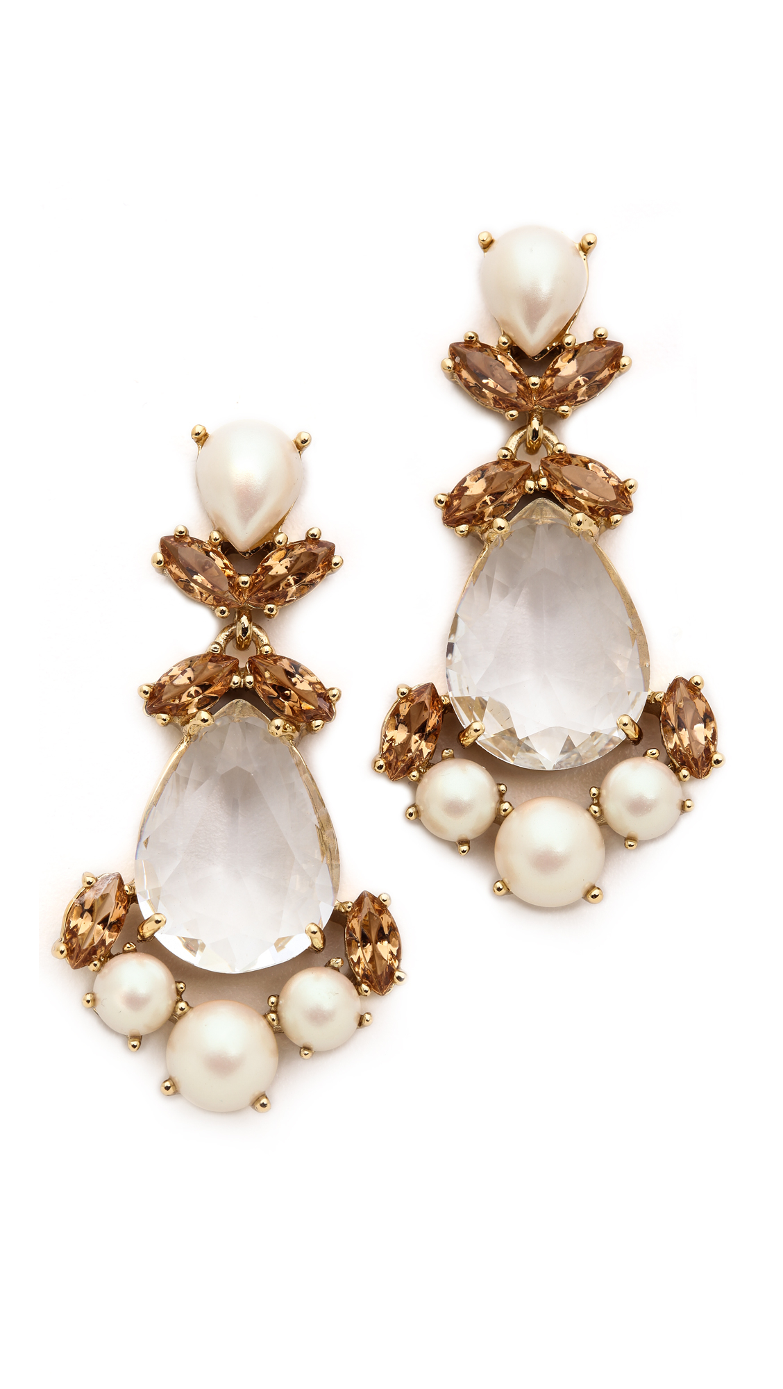 Lyst kate spade new york chandelier earrings neutral multi gallery arubaitofo Image collections