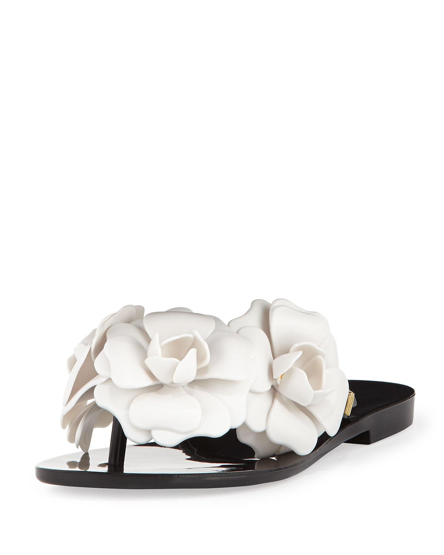 0d0bb28f46b9 Lyst - Melissa Harmonic Garden Flower Embellished Thong Sandals ...