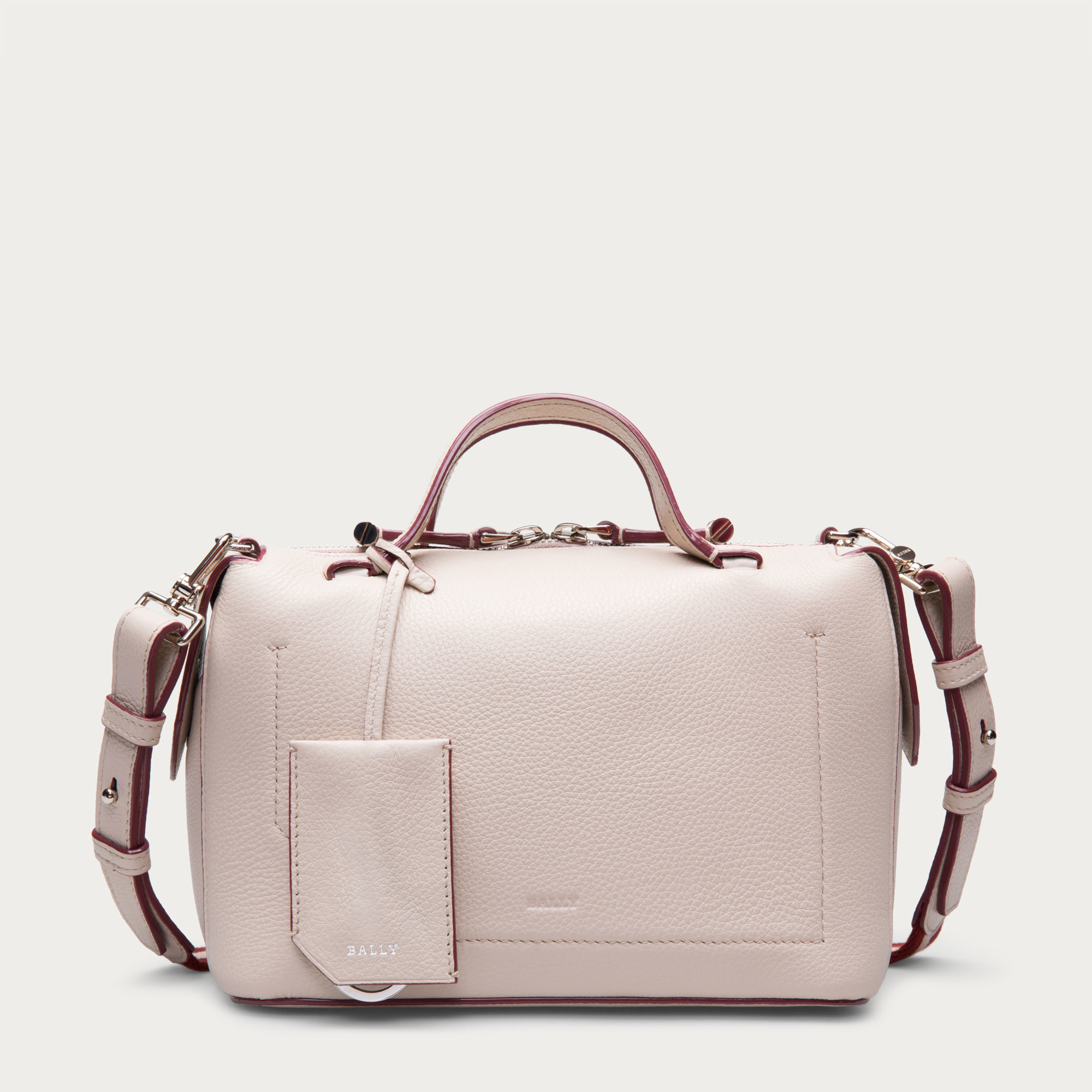 bally kissen small women 39 s leather shoulder bag in nude in pink lyst. Black Bedroom Furniture Sets. Home Design Ideas