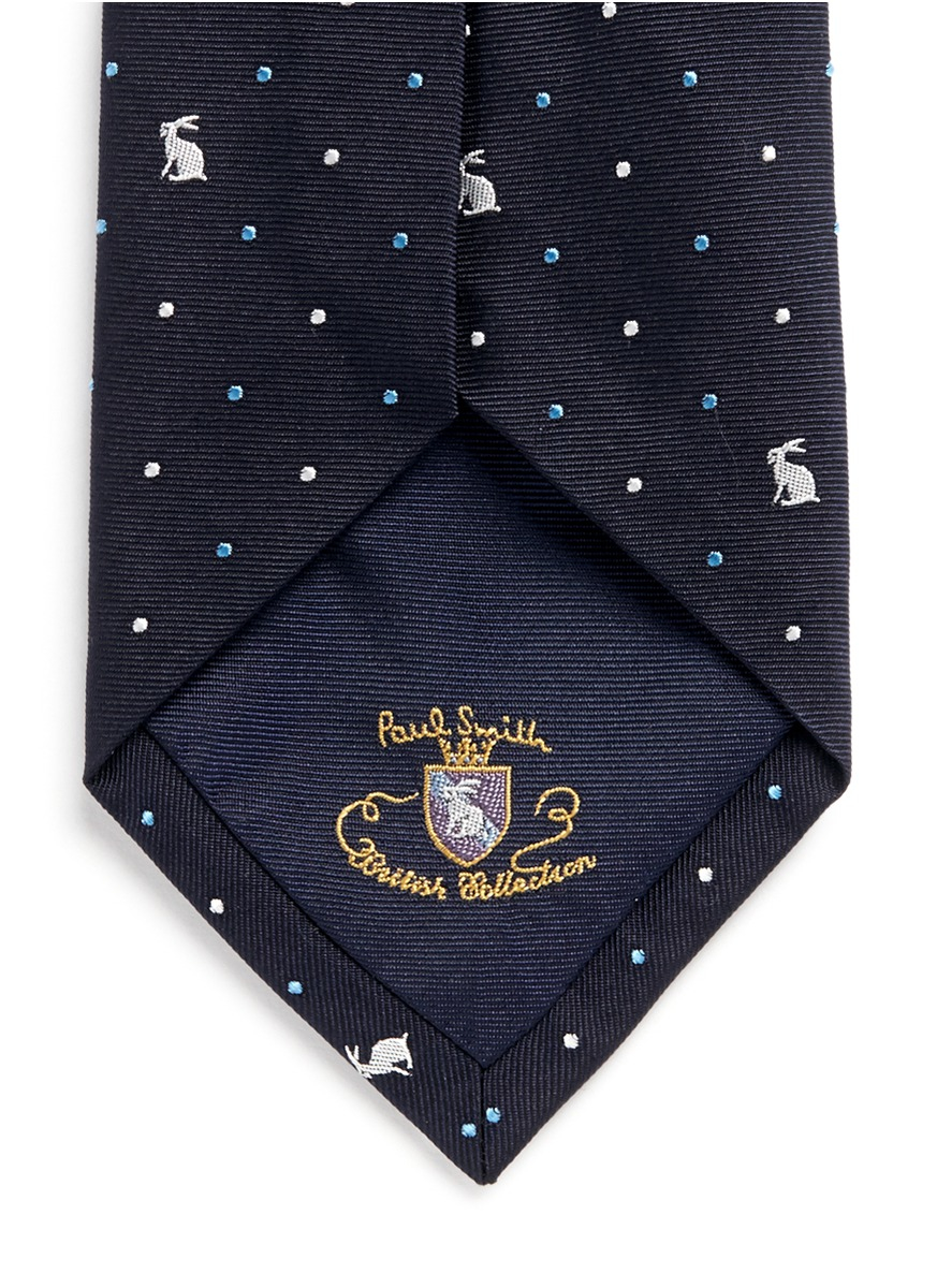 Polka dot-embroidered silk tie Paul Smith mai4nI5