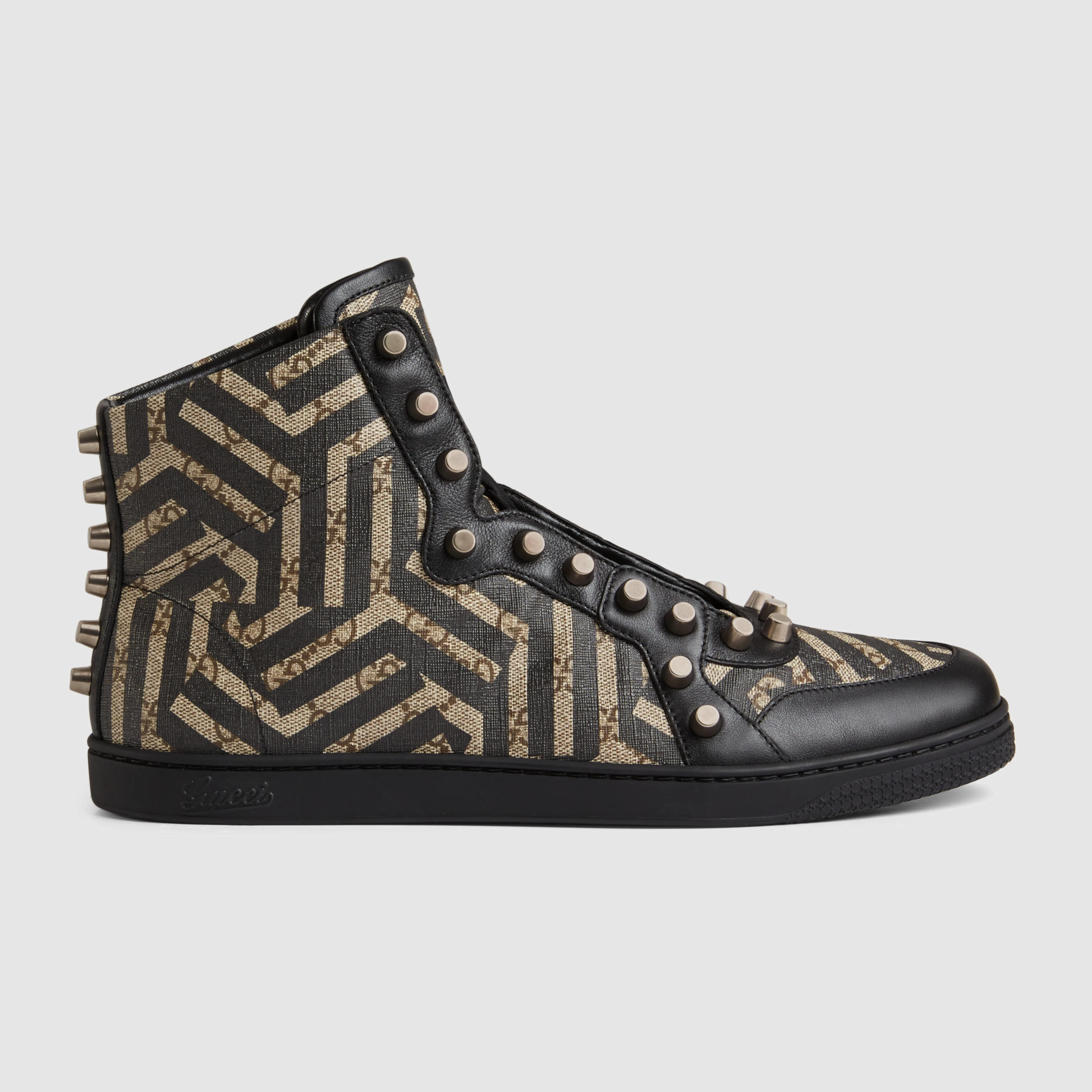 b66f30c09c8 Lyst - Gucci Gg Caleido High-top With Studs in Black for Men