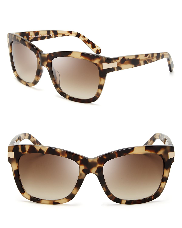 Lyst - Kate Spade New York Autumn Wayfarer Sunglasses ...