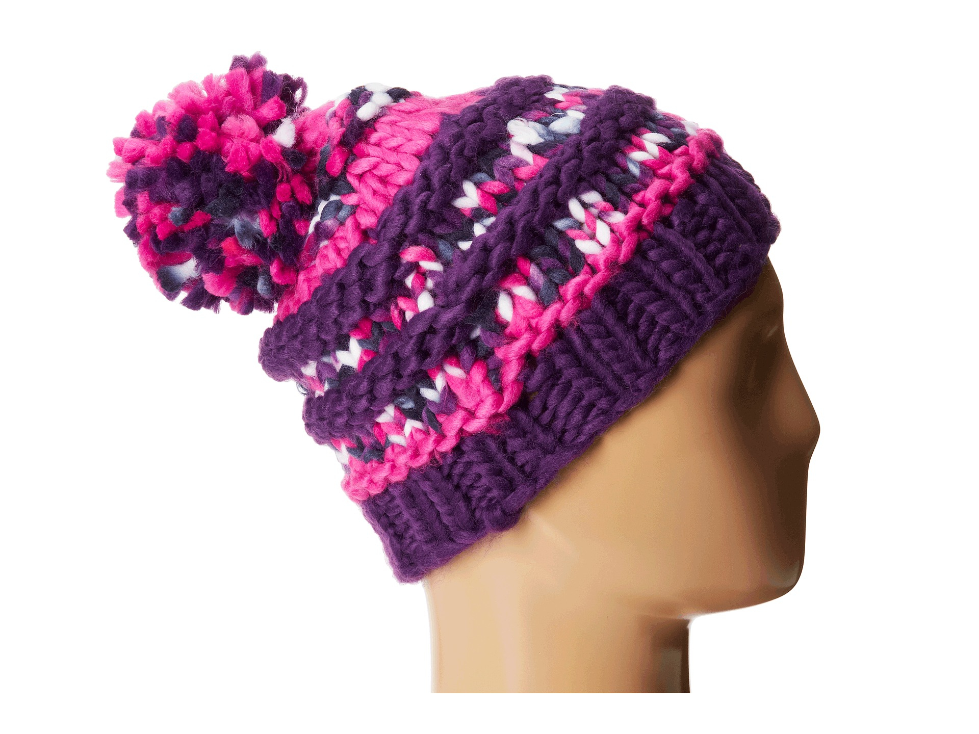 cd0b500dfabc8 The North Face Nanny Knit Beanie in Pink - Lyst