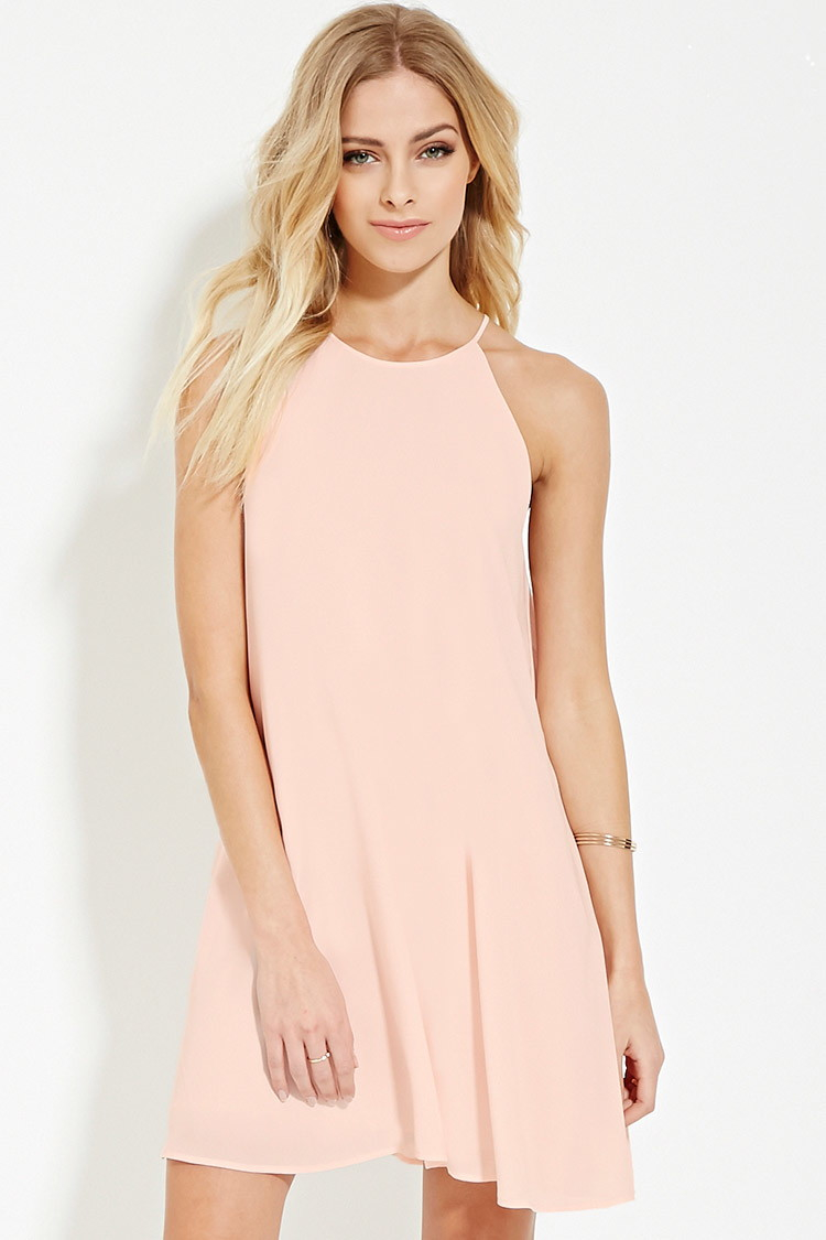 Lyst Forever 21 Contemporary A Line Dress In Pink