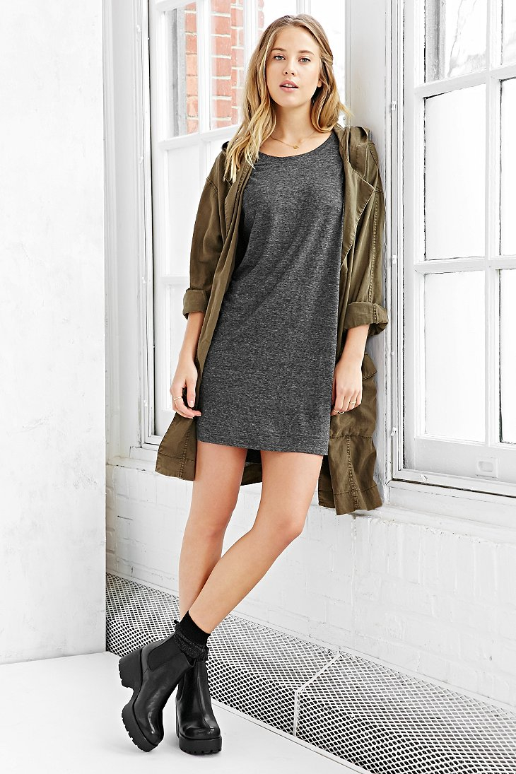 Lyst Bdg Estelle Boyfriend T Shirt Dress In Gray