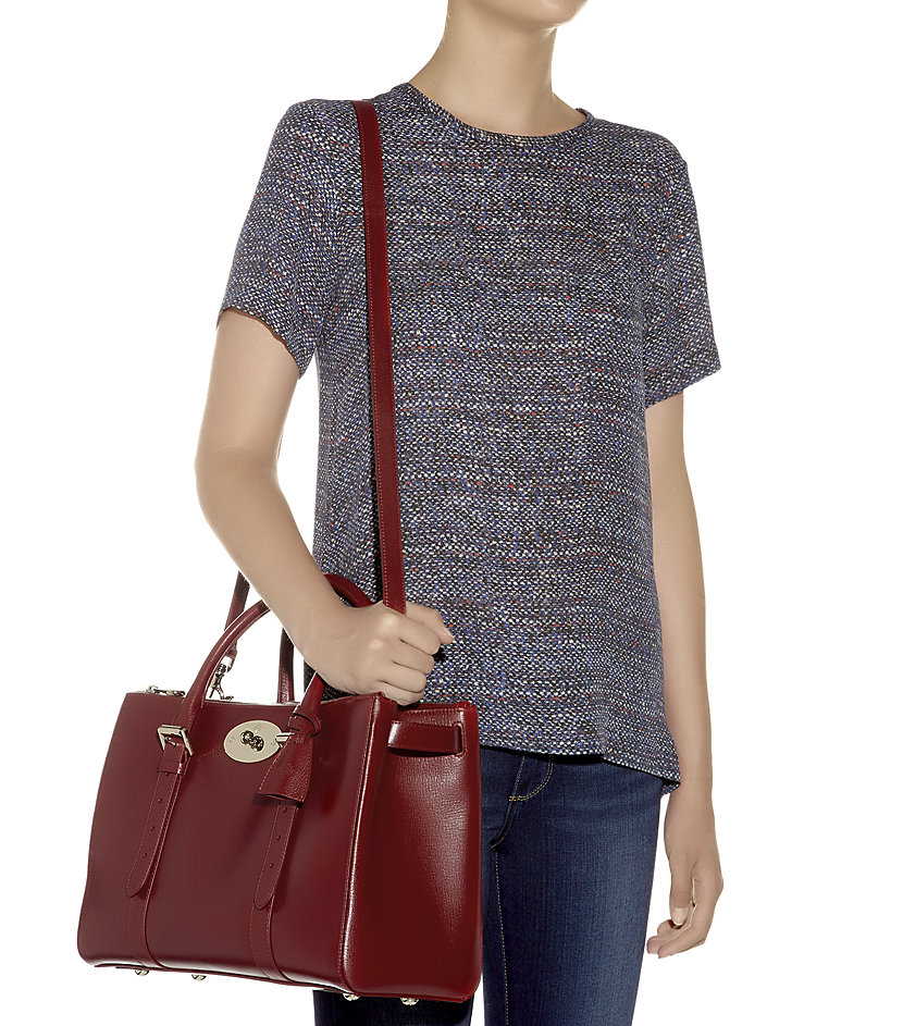 ca51209cdf3 ... canada mulberry bayswater double zip tote in red lyst 71c37 2f1d1