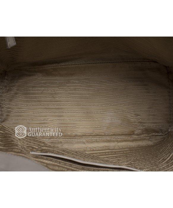 Prada Pre-owned Grey Saffiano Lux Tote Bag in Gray (grey)   Lyst