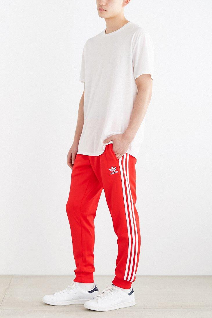 e1f4c4f79 adidas Originals Superstar Cuff Track Pant in Red for Men - Lyst