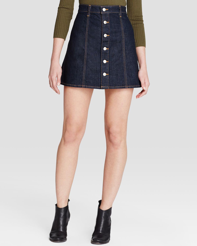 de893f5740 Dark Denim A Line Skirt - Redskirtz