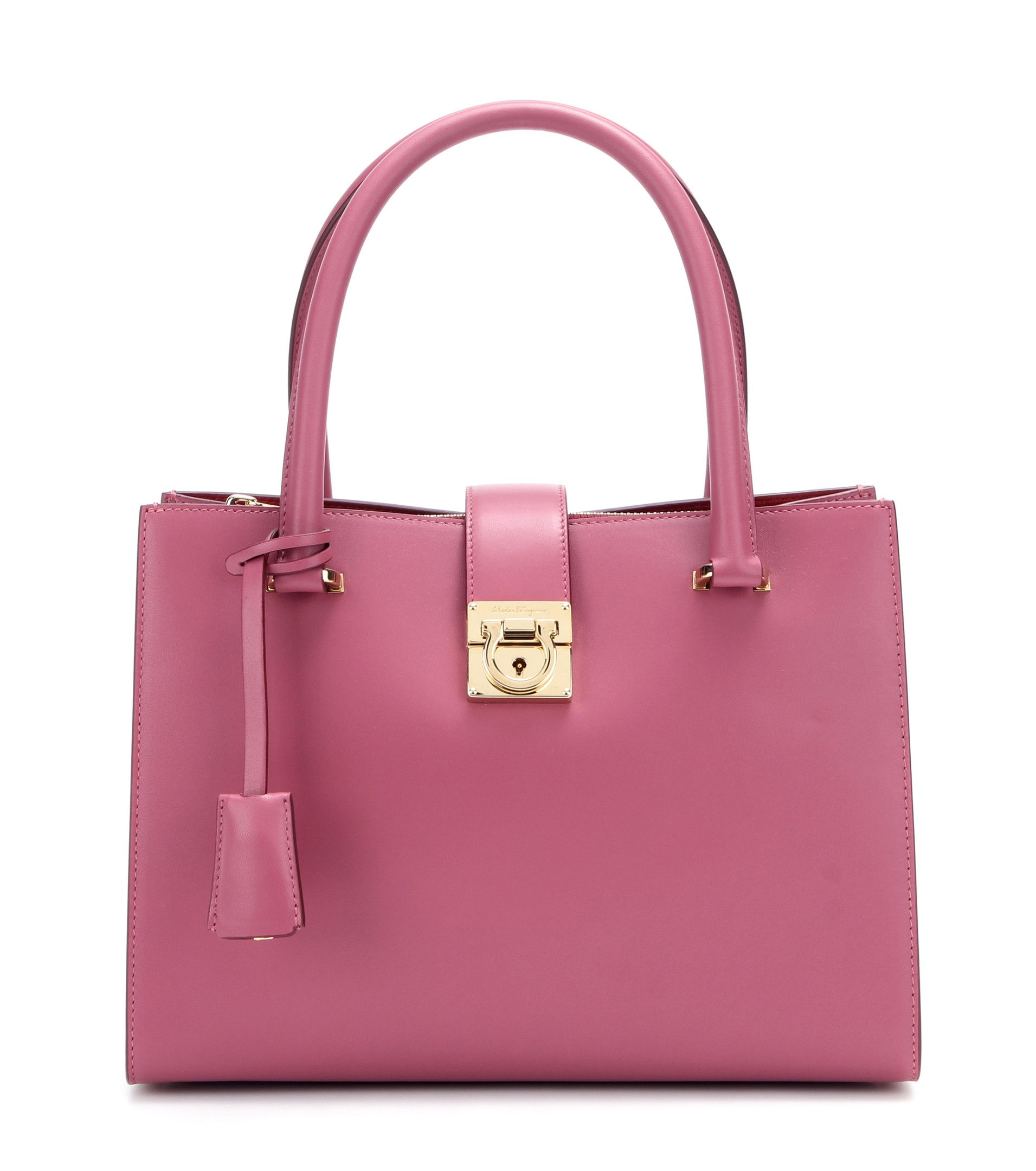 1cee93325908 Lyst - Ferragamo Juliette Leather Tote in Pink