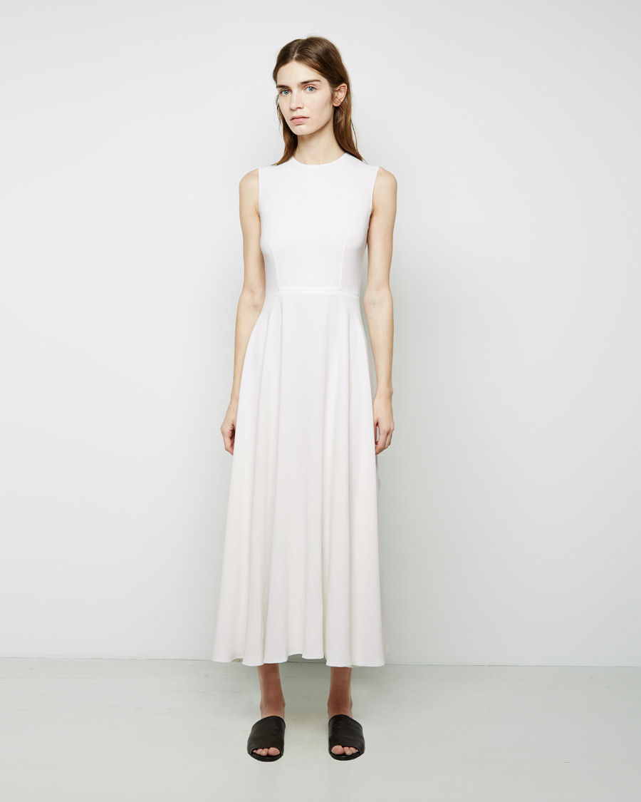 The Row Jil Dress In White