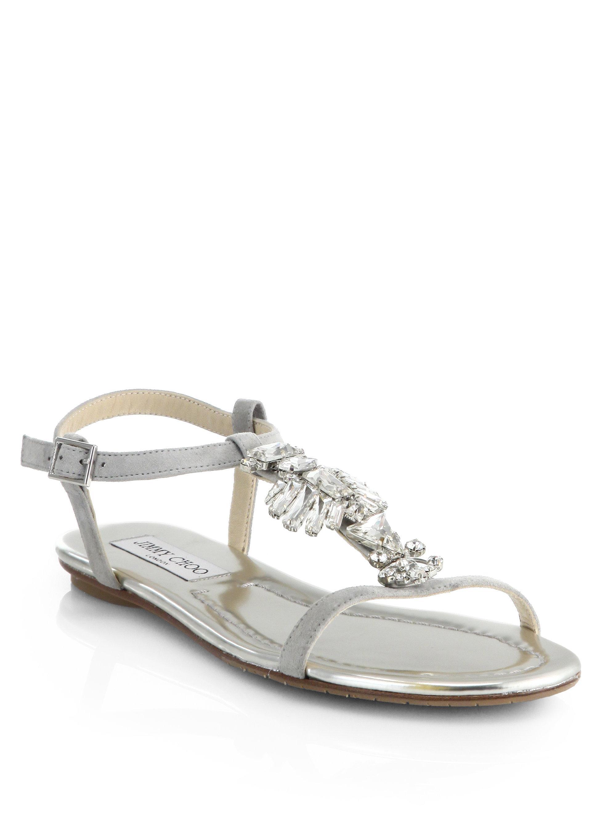 Jimmy choo Embellished Flat Sandals Wholesale Price Cheap Price cr1KQC