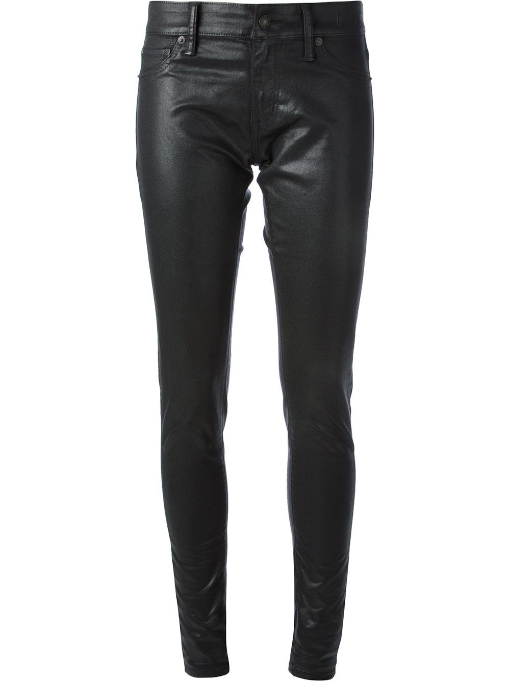 Lauren coated skinny jeans