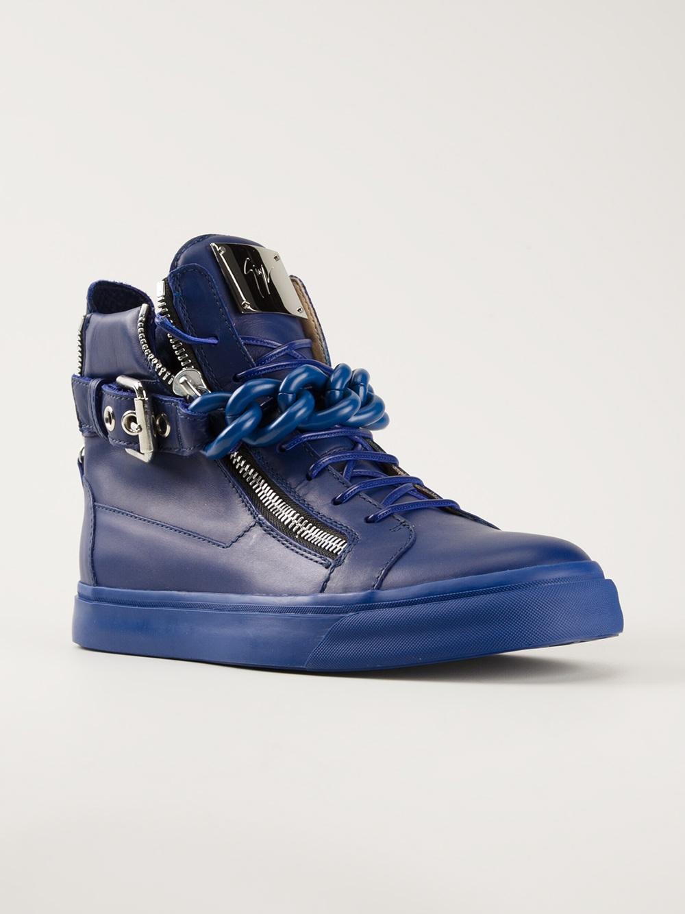 men 39 s giuseppe zanotti design metallic strap sneaker. Black Bedroom Furniture Sets. Home Design Ideas