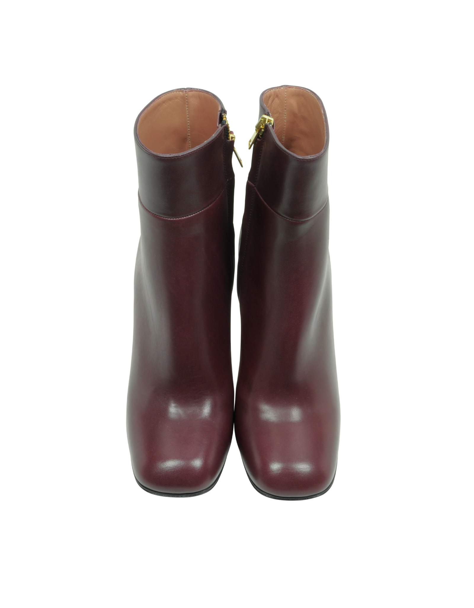 marni bordeaux leather ankle boot in purple lyst. Black Bedroom Furniture Sets. Home Design Ideas