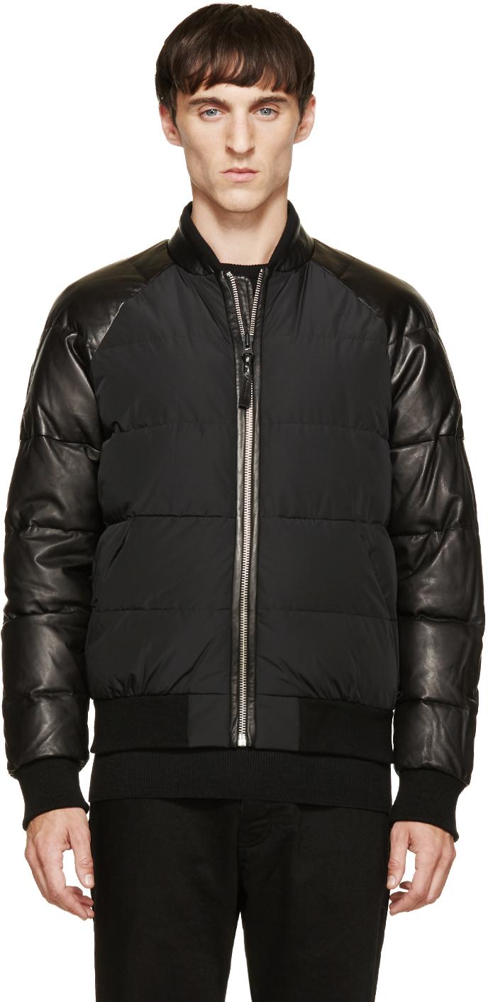 Mackage Black Down Vlad Bomber Jacket in Black for Men | Lyst