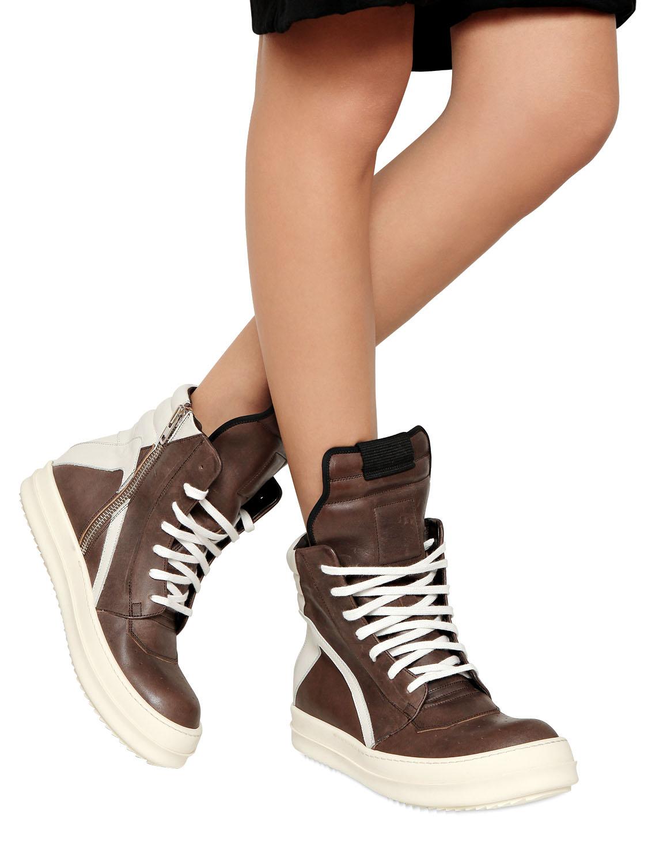 hi top sneakers - Brown Rick Owens rQ2R9