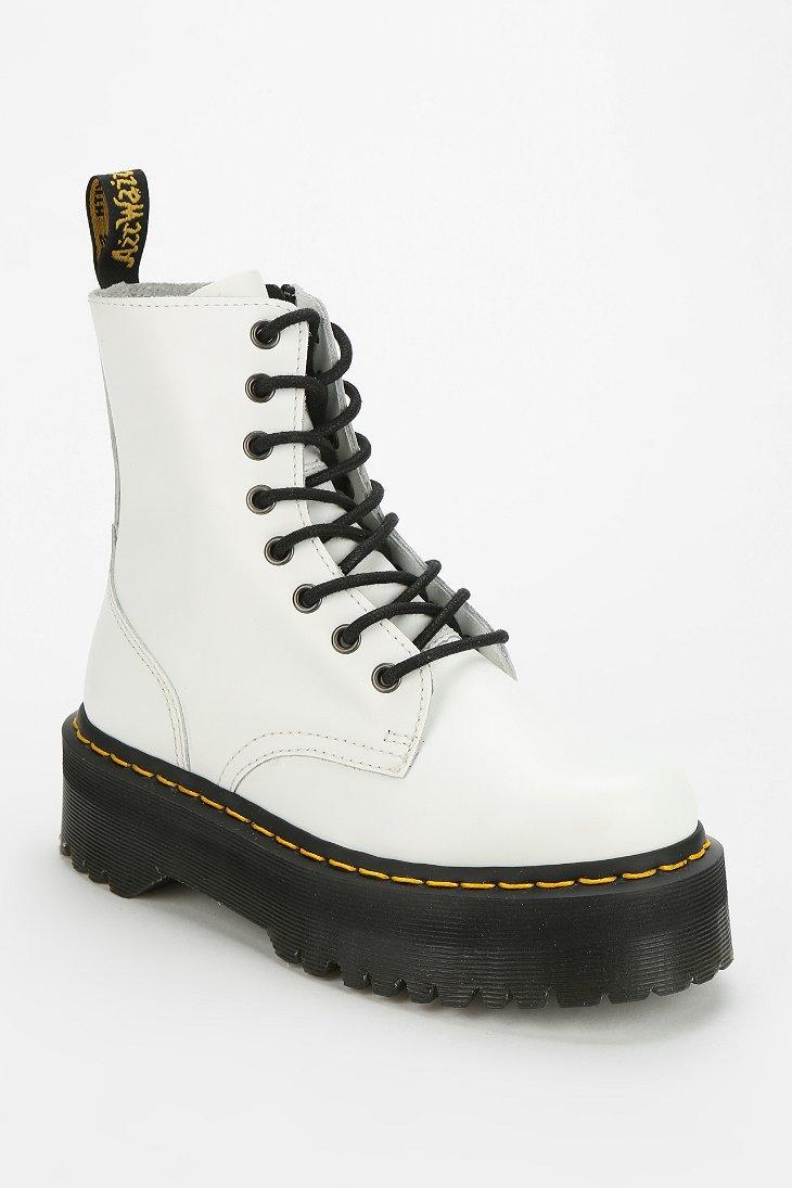 0e2b7bcf591b Lyst - Dr. Martens Jadon 8eye Platform Boot in White