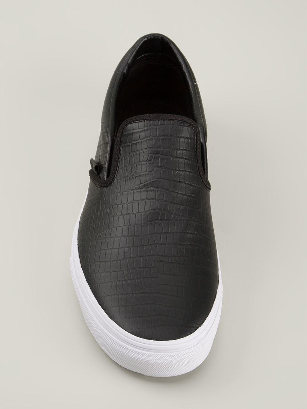 3d7337da7d Lyst - Vans Textured Slip-On Sneakers in Black