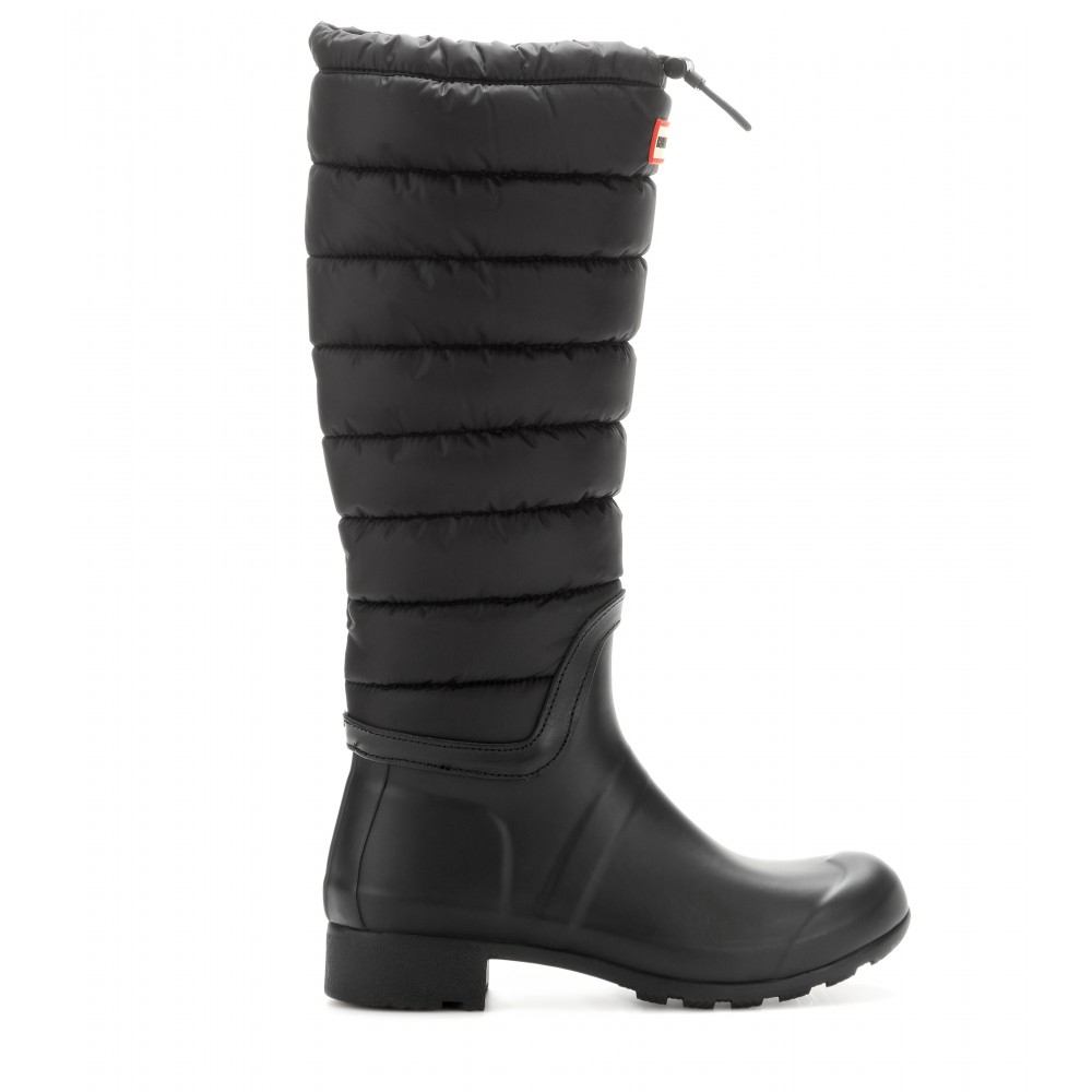 Hunter Original Quilted Rain Boots In Black
