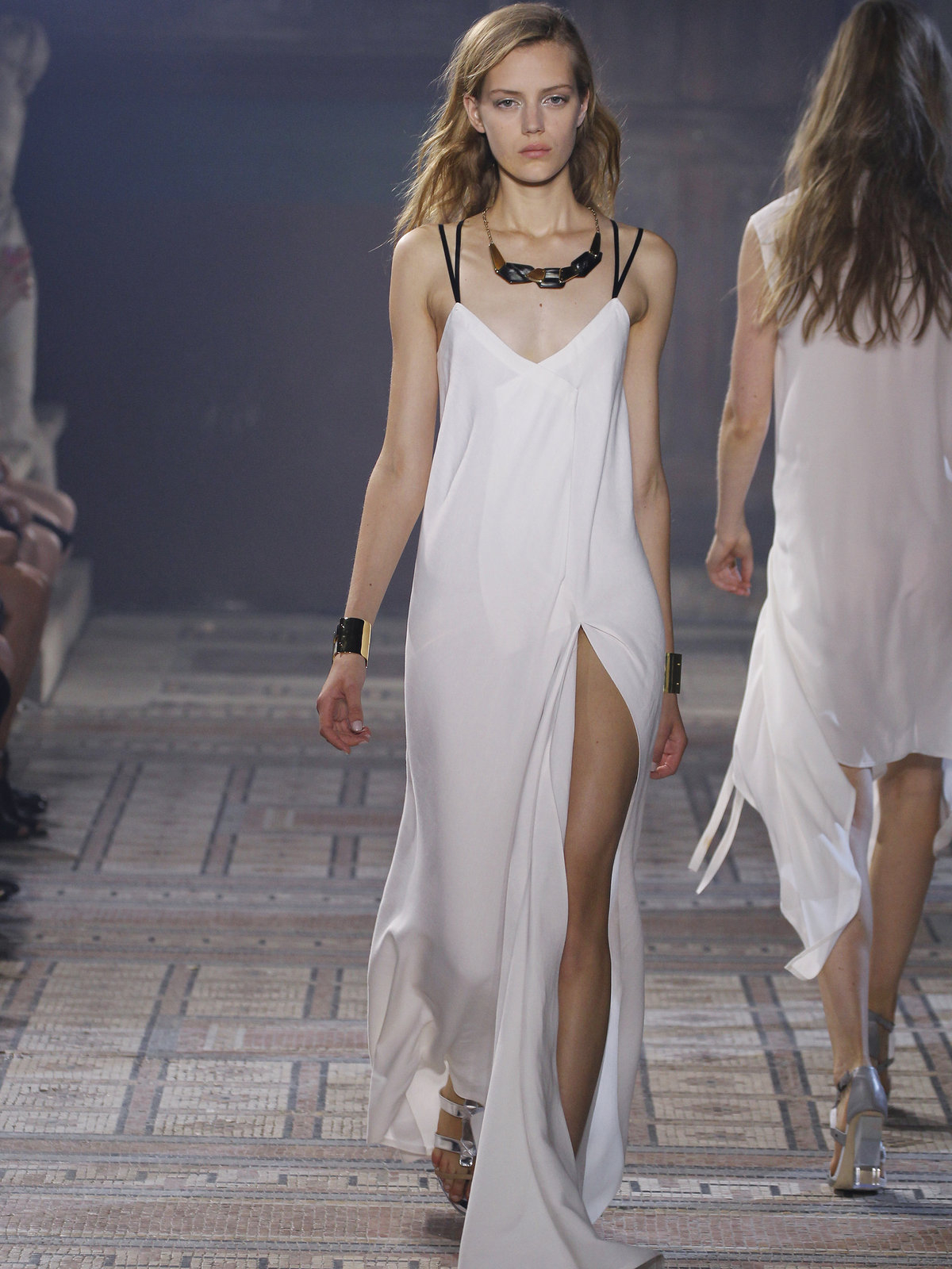 Maiyet Slip Dress Long in White  Lyst