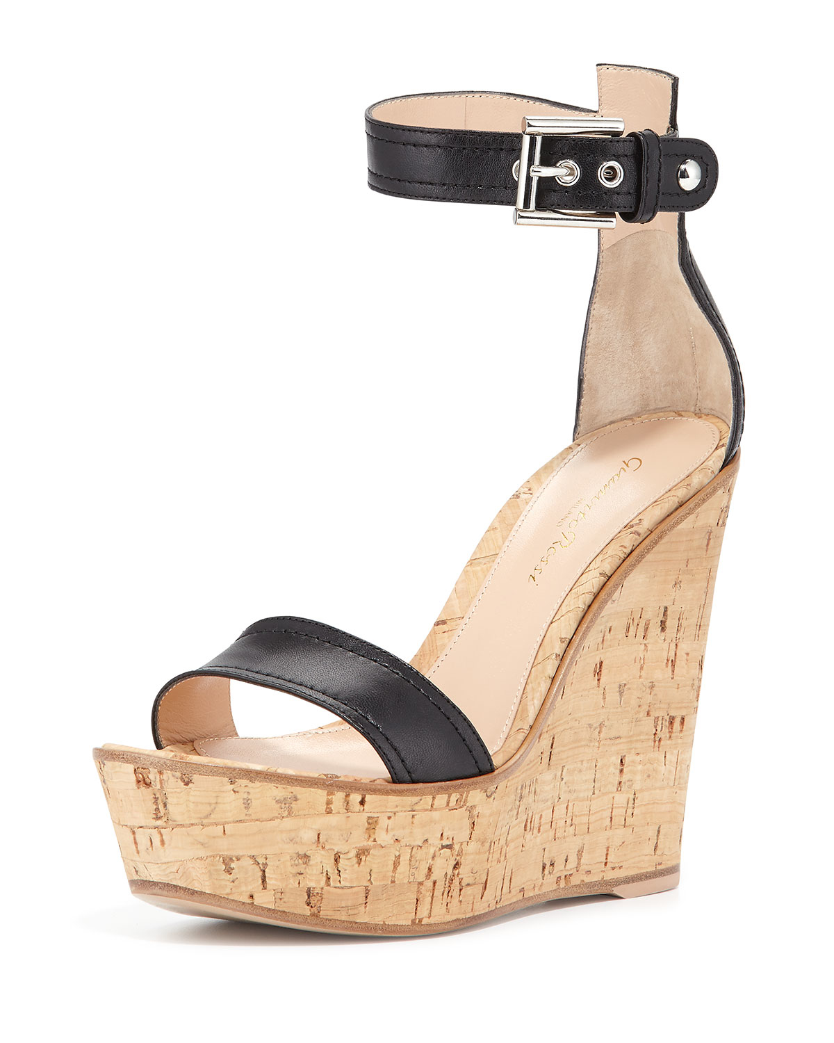 Gianvito Rossi Wedge sandals suede cork LNKkbyFItp