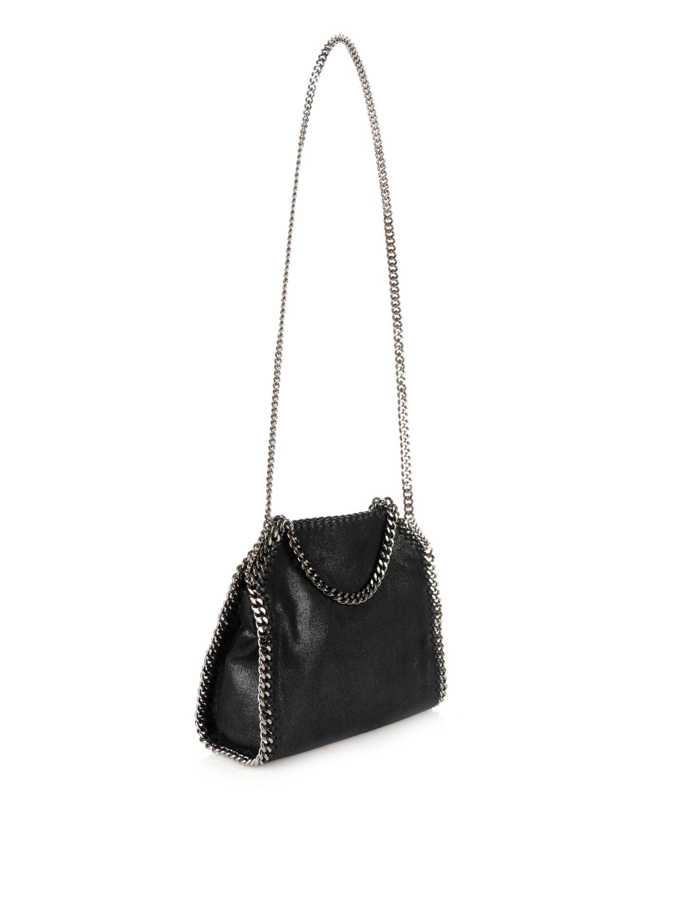 Lyst - Stella McCartney Mini Bella Small Faux-suede Cross-body Bag ... 4fe90a711149e
