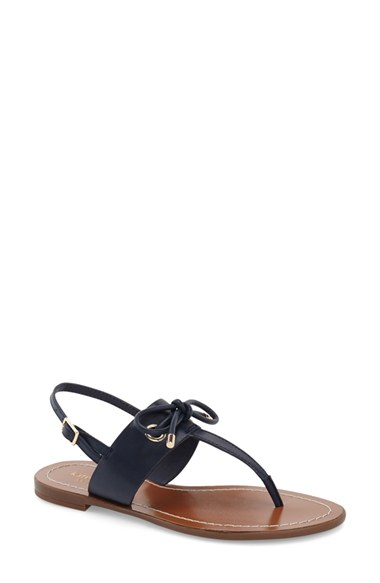 451e6ace2d4b Lyst - Kate Spade Carolina Leather Thong Sandals in Blue