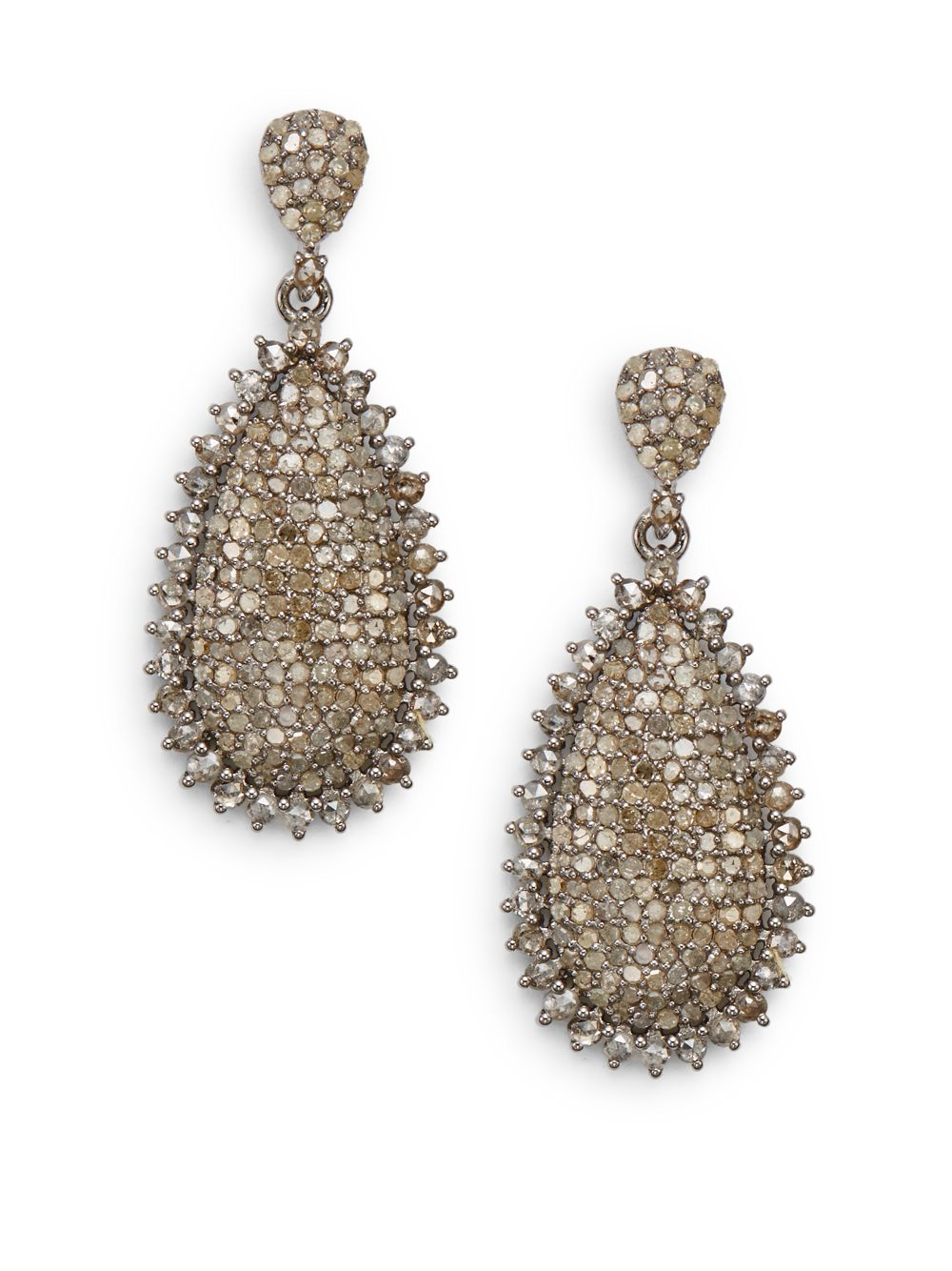 lyst bavna tcw champagne diamond sterling silver. Black Bedroom Furniture Sets. Home Design Ideas