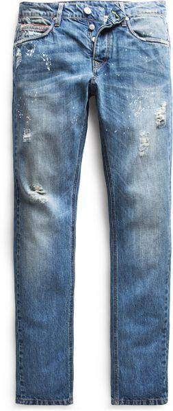 Mango Slimfit Premium Medium Wash Steve Jeans in Blue for Men (Medium ...