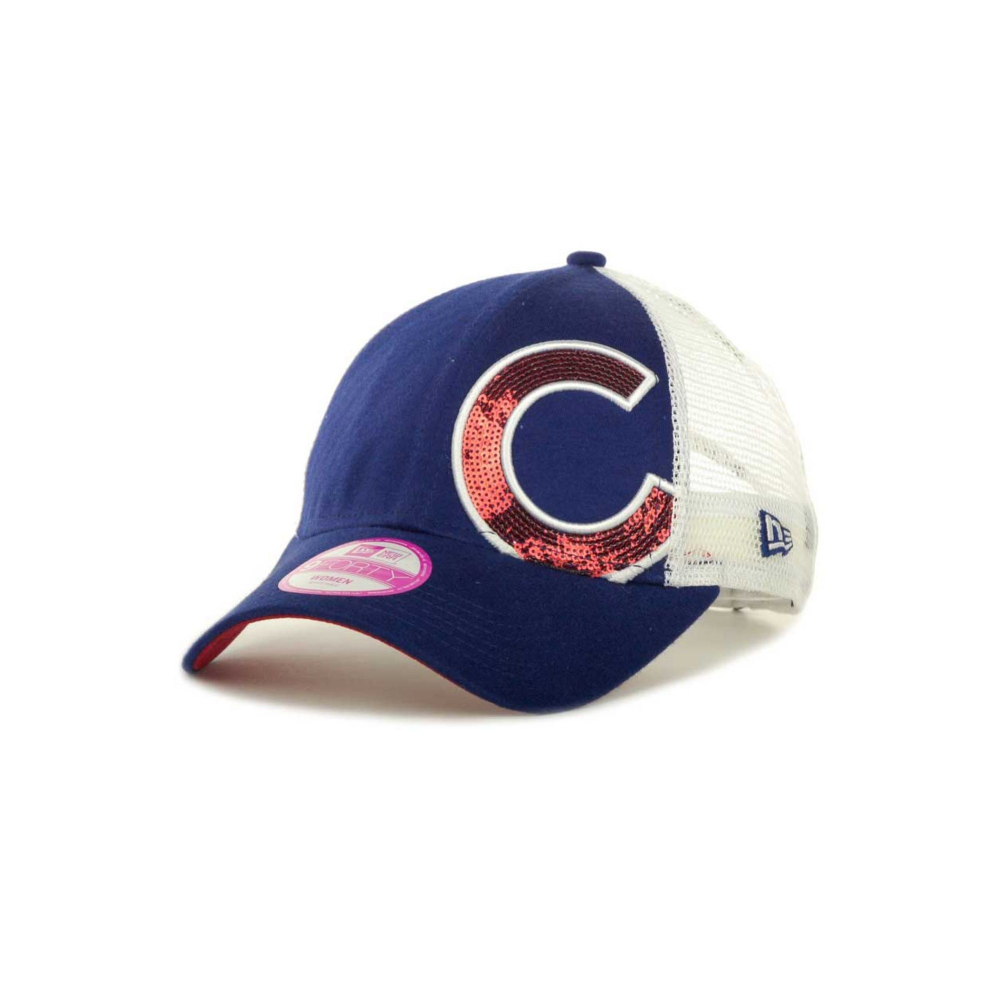a9b2f7582fd ... get lyst ktz womens chicago cubs sequin shimmer 9forty cap in blue  7a76b 413cd