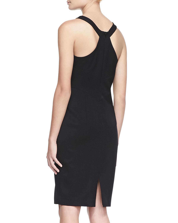 Gabardine dress black halo