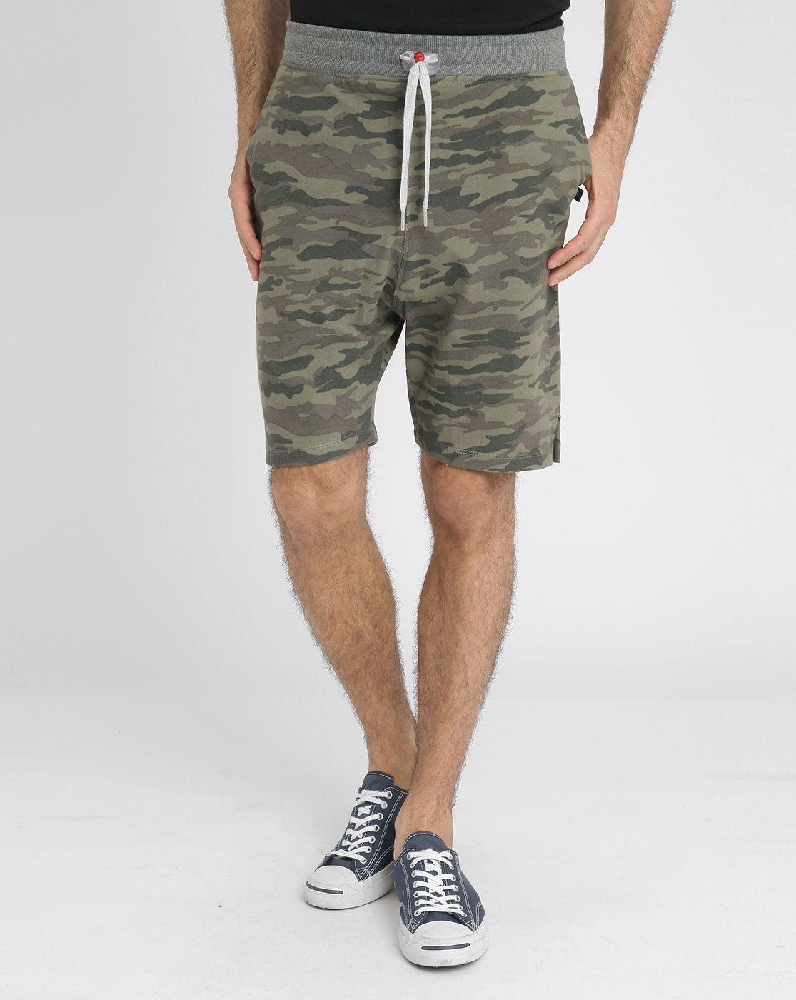 sweet pants camouflage number back loose fleece shorts in gray for men lyst. Black Bedroom Furniture Sets. Home Design Ideas